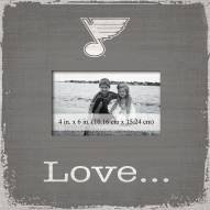 St. Louis Blues Love Picture Frame