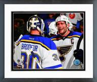 St. Louis Blues Martin Brodeur & David Backes Framed Photo