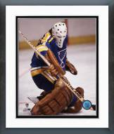 St. Louis Blues Mike Liut Action Framed Photo