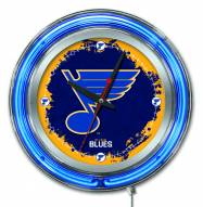 St. Louis Blues Neon Clock