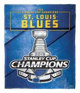 St. Louis Blues NHL 2019 Stanley Cup Champions Silk Touch Blanket