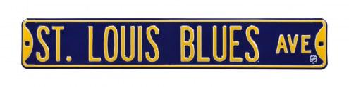 St Louis Blues NHL Authentic Street Sign