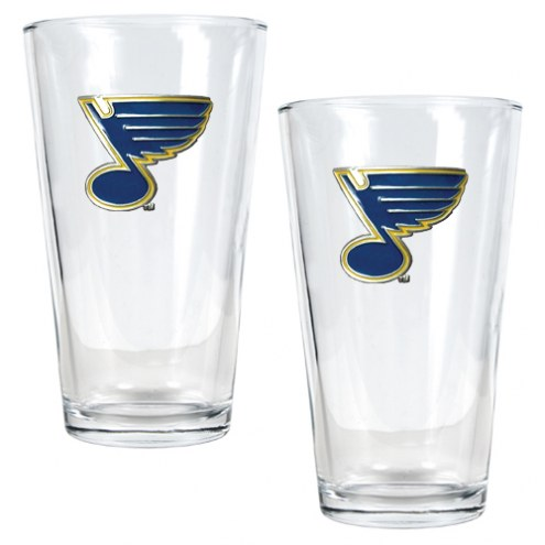 St. Louis Blues NHL Pint Glass - Set of 2