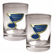 St. Louis Blues NHL Rocks Glass - Set of 2
