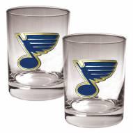 St. Louis Blues NHL Rocks Glass - Set of 2