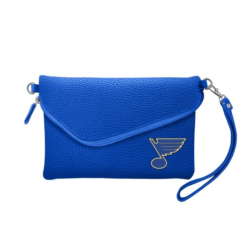 St. Louis Blues Pebble Fold Over Purse