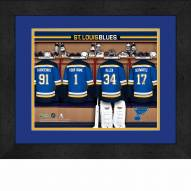 St. Louis Blues Personalized Locker Room 13 x 16 Framed Photograph
