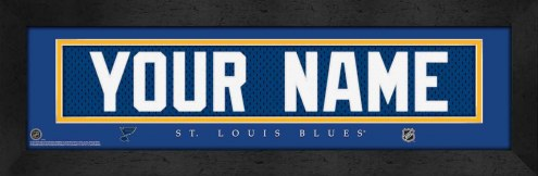 St. Louis Blues Personalized Stitched Jersey Print
