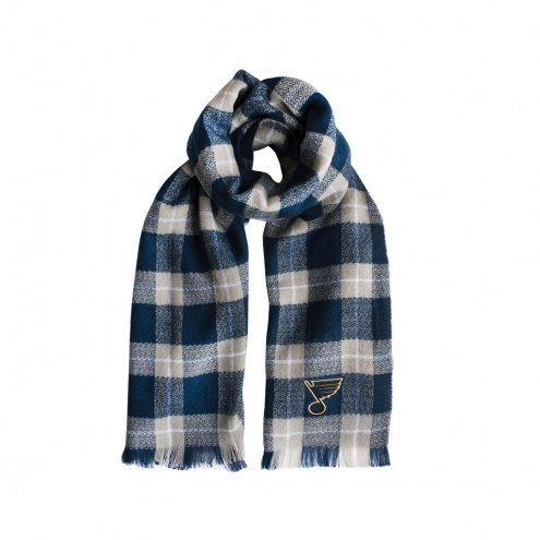 St. Louis Blues Plaid Blanket Scarf