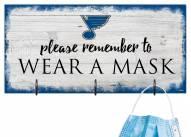 St. Louis Blues Please Wear Your Mask Sign