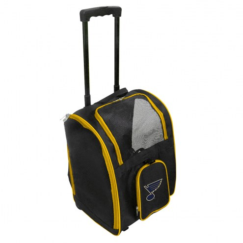 St. Louis Blues Premium Pet Carrier with Wheels