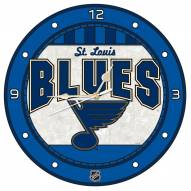 St. Louis Blues Stained Glass Wall Clock