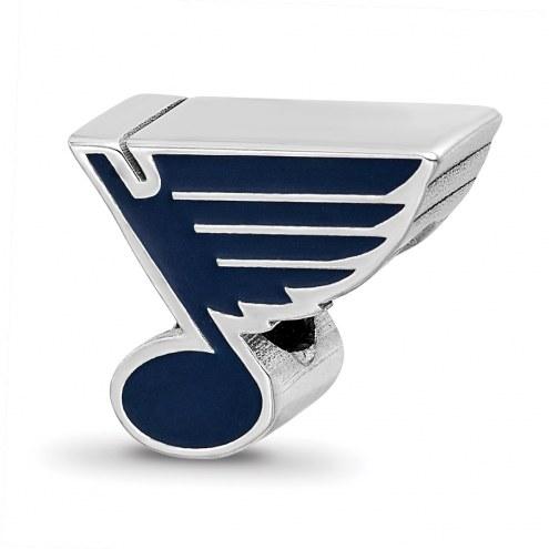 St. Louis Blues Sterling Silver Enameled Bead