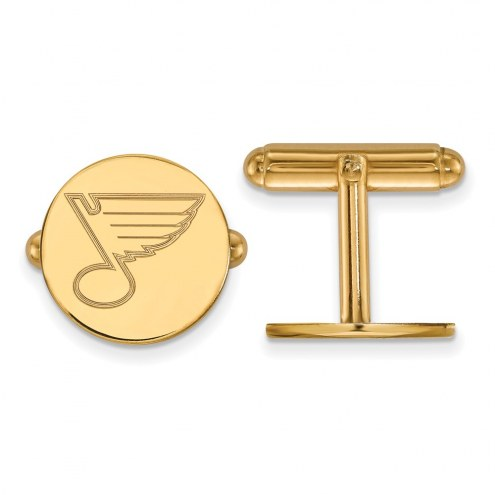 St. Louis Blues Sterling Silver Gold Plated Cuff Links