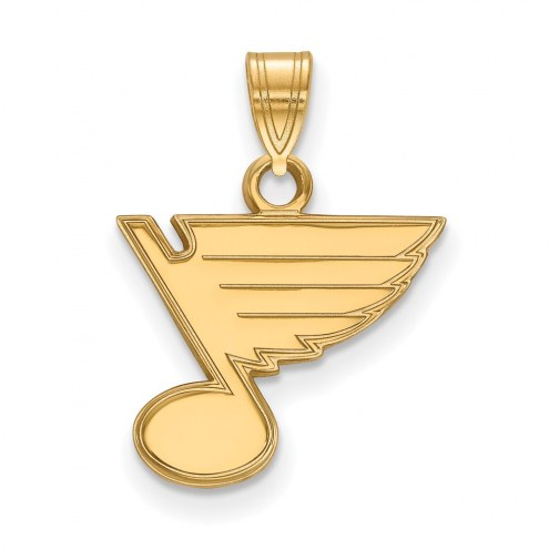 St. Louis Blues Sterling Silver Gold Plated Small Pendant