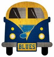 St. Louis Blues Team Bus Sign