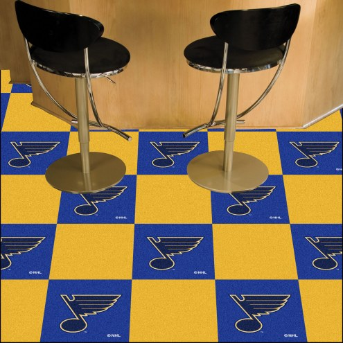 St. Louis Blues Team Carpet Tiles