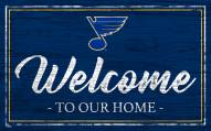 St. Louis Blues Team Color Welcome Sign
