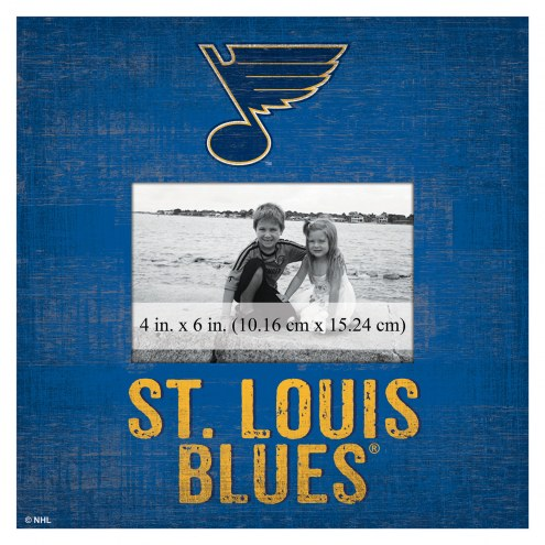 """St. Louis Blues Team Name 10"""" x 10"""" Picture Frame"""