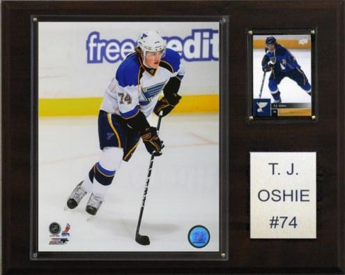 """St. Louis Blues T.J. Oshie 12"""" x 15"""" Player Plaque"""