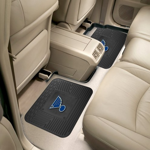St. Louis Blues Vinyl 2-Piece Rear Floor Mats