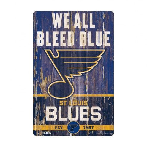 St. Louis Blues Slogan Wood Sign