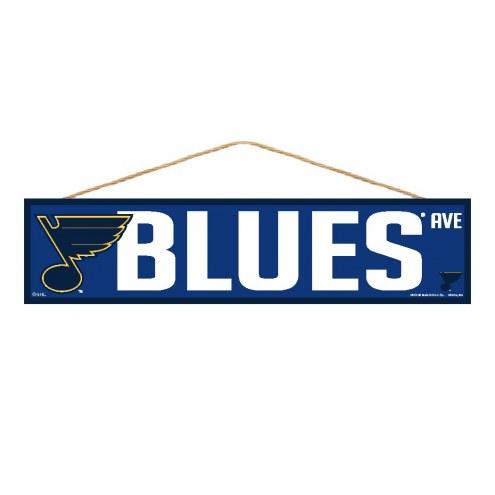 St. Louis Blues Wood Avenue Sign