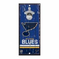 St. Louis Blues Wood Bottle Opener