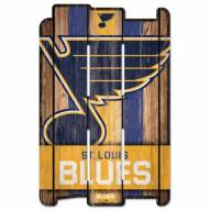 St. Louis Blues Wood Fence Sign