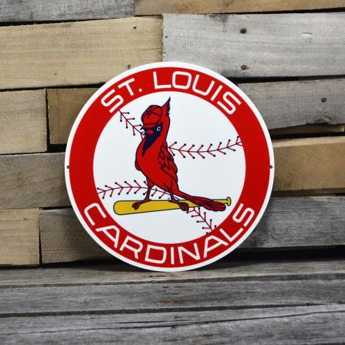 "St. Louis Cardinals 12"" 1966 Steel Logo Sign"