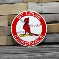 "St. Louis Cardinals 12"" 1966 Steel Logo Sign"