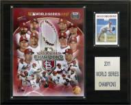 "St. Louis Cardinals 12"" x 15"" 2011 World Series Champions Plaque"