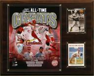 """St. Louis Cardinals 12"""" x 15"""" All-Time Greats Photo Plaque"""
