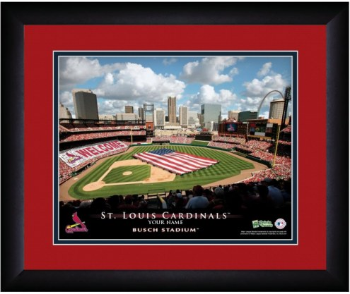 St. Louis Cardinals 13 x 16 Personalized Framed Stadium Print