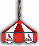 """St. Louis Cardinals 14"""" Glass Pub Lamp"""