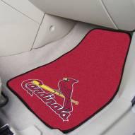 St. Louis Cardinals 2-Piece Carpet Car Mats