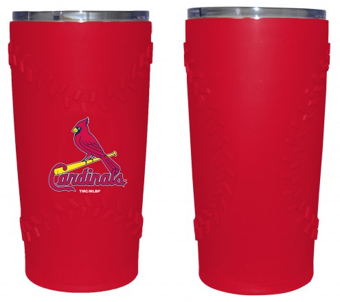 St. Louis Cardinals 20 oz. Stainless Steel Tumbler with Silicone Wrap