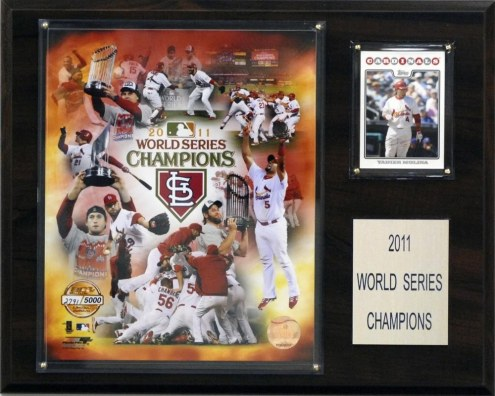 "St. Louis Cardinals 12"" x 15"" 2011 World Series Champions Plaque, Gold Edition"