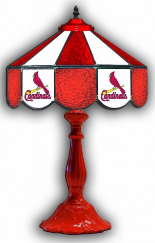 "St. Louis Cardinals 21"" Glass Table Lamp"
