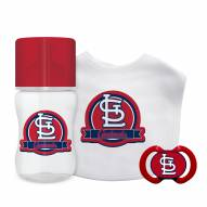 St. Louis Cardinals 3-Piece Baby Gift Set