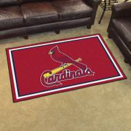St. Louis Cardinals 4' x 6' Area Rug