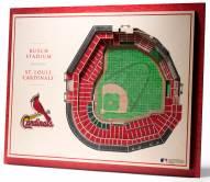 St. Louis Cardinals 5-Layer StadiumViews 3D Wall Art