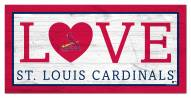 "St. Louis Cardinals 6"" x 12"" Love Sign"