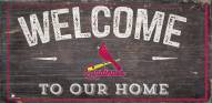 """St. Louis Cardinals 6"""" x 12"""" Welcome Sign"""
