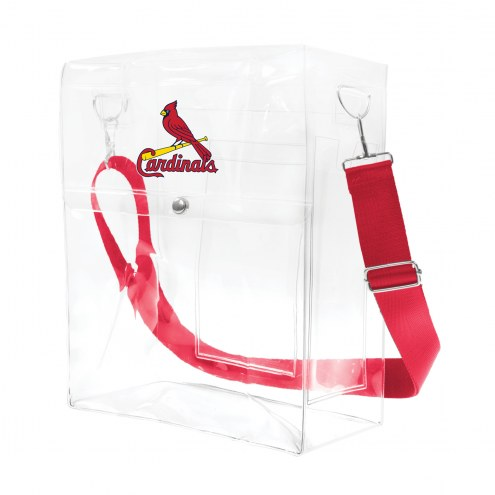 St. Louis Cardinals Clear Ticket Satchel