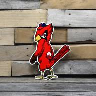 "St. Louis Cardinals Angry Bird 12"" Steel Logo Sign"