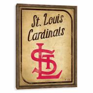 St. Louis Cardinals Vintage Card Recessed Box Wall Decor