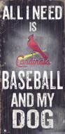 St. Louis Cardinals Baseball & My Dog Sign