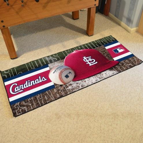 St. Louis Cardinals Baseball Runner Rug