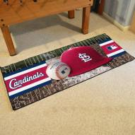 St. Louis Cardinals Baseball Runner Rug